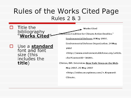The Works Cited Page Mla Format For A Bibliography Ppt Download