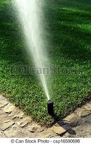 garden irrigation system. Garden Irrigation System Stock Photo