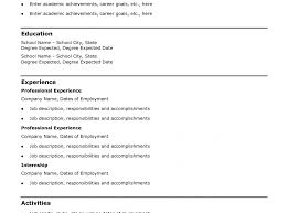 Emt Job Description Resume Basic Sample Resume Simple Resumes Samples Template Cv Jobsxs Com 88