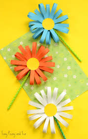 Glace Paper Flower Flower Craft Ideas Wonderful Spring Summer Mothers Day