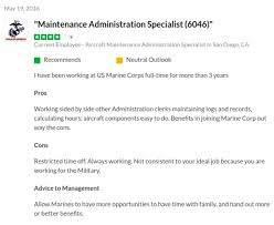 Marine Corps Pros And Cons Chart Aircraft Maintenance Admin Specialist Mos 6046 2019