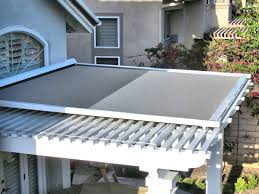 how much is an awning retractable shade panel on lattice patio cover by superior awning retractable