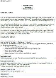 Hr Advisor Cv Example Icover Org Uk