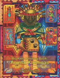 Dolphin Dream Designs Coloring Book Big Kids Coloring Book Animal Kachinas 60 Line Art