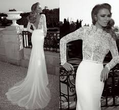 Top Lace Wedding Dress Designers 2014 Designer Mermaid Low Back Court Train Top Lace Long