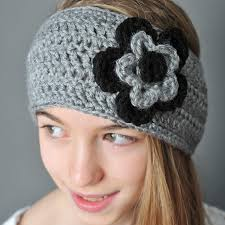 Crochet Ear Warmer Pattern Mesmerizing Crochet Ear Warmer With Layered Flowers Petals To Picots