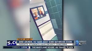 school bathroom door. Anne Arundel Co. School Takes Away Bathroom Doors, Students, Parents Speak Out Door L