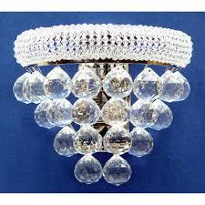 fantastic lighting placido 320 2 chrome with crystal wall bracket