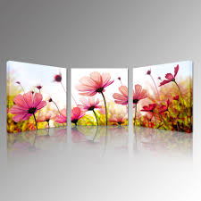 2018 pink recollections canvas prints beautiful flowers picture art prints wall hanging romantic flora canvas wall art canvas set of 3 from creativearts  on canvas wall art pink flowers with 2018 pink recollections canvas prints beautiful flowers picture art