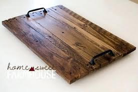 wood tray distressed turquoise aqua