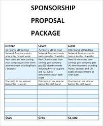Sponsorship Package Template Free Corporate Sponsorship