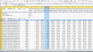 Distance Between States Chart How To Calculate Distances Between Multiple Locations Or Spreadsheet Data Sets