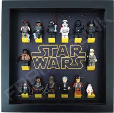 star wars black frame display with minifigures