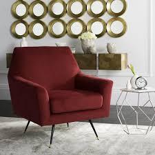 burnt orange accent chair. Burnt Orange Accent Chair Emerald Green Velvet Silver Grey Armchair Reading Rocking