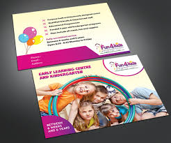 Child Care Brochure Design Education Flyer Design For Fun 4 Kids Early Learning Centre