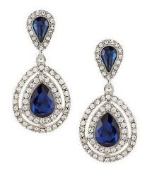 gemma layne pav teardrop statement earrings