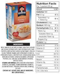 quaker oats peaches and cream