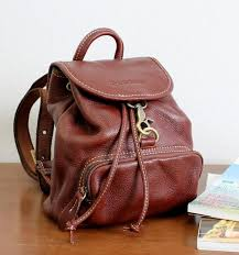 stationary penlife 1 leather mini backpack red brown retro cute design is attractive rakuten global market