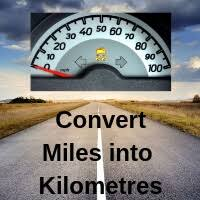 Conversion Chart Miles To Kilometers Convert Miles To Km