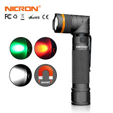 <b>NICRON 90 Degrees Magnet</b> Twist LED Flashlight Waterproof IPX4 ...