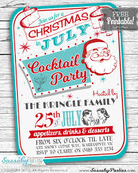 Christmas In July Free Printable Invitation