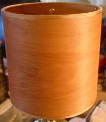 Wood Veneer Lampshades custom made in the USA!