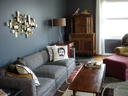 ... Paint Ideas For Small Living Rooms Glossy And Matte Color Schemes Grey  Wall Unique Ornaments Stylish ...