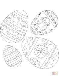 Vier Paaseieren Kleurplaat Gratis Kleurplaten Printen