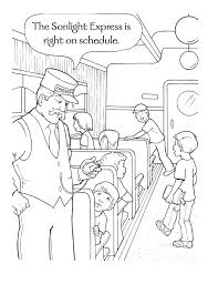 Polar Express Coloring Sheets Polar Express Coloring Pages Paper