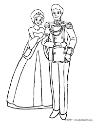 Coloriages La Princesse Et Le Prince Sont Amoureux Fr Hellokids Com