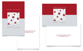 Birthday Card Templates Microsoft Word Red Ornaments Greeting Card Template Word Publisher