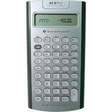 Financial Calculator Texas Instruments Ba Ii Plus Professional Financial Calculator