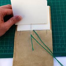 to bind the next signature stitch through hole 2
