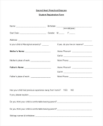 Daycare Form Amazing Daycare Application Form Template Childcare Registration Tangledbeard
