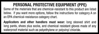 Ppe Glove Selection Chart Personal Protective Equipment For Handling Pesticides