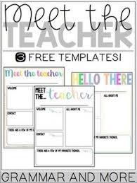 Meet The Teacher Letter Templates 9 Best Meet The Teacher Template Images Meet The Teacher
