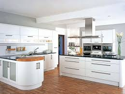 Plastic Kitchen Cabinets Modern Big Family Kitchen With White Metal Long Door Handle Matrix