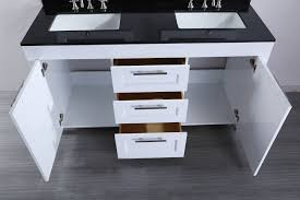 bosconi inch contemporary white double sink bathroom vanity kitchens tile feature wall white contemporary background