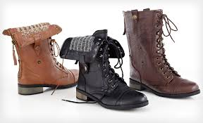 carrini women s vegan combat boots 29 shipped from groupon