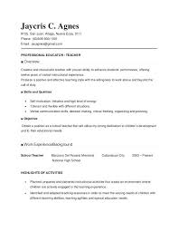 School Teacher Resume Examples Teacher Resume Samples For New ...
