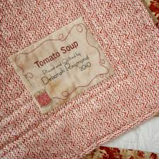124 best Quilting - labels images on Pinterest | Embroidery, Tags ... & Tomato Soup Quilt Adamdwight.com