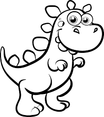 Cute Dinosaur Coloring Pages For Kids Az Coloring Pages Kid Color