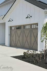 Modern garage door Dark Brown Modern Farmhouse Exterior Garage Close Up Classy Door Design Modern Garage Door Designs
