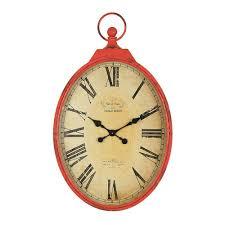 3r studios red pocket watch wall clock