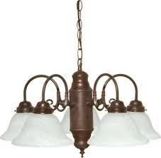 old bronze chandelier alabaster glass 23 wx13 h