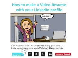 18. How to make a Video-Resume with your LinkedIn ...