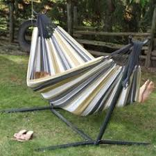 two person hammock with stand. Vivere Hammocks Two Person Fabric Hammock With Stand B