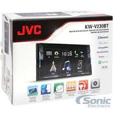 jvc kw v230bt double din bluetooth® in dash dvd cd am fm car stereo product jvc kw v230bt newest version of kwv 220bt