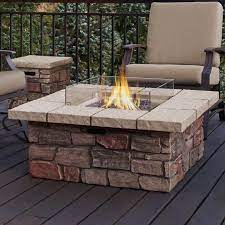 Sedona Concrete Gas Fire Pit Table Pergolafirepit Fire Pit Patio Backyard Fire Outdoor Propane Fire Pit