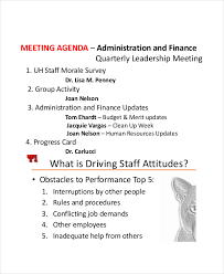 sample agendas for staff meetings 9 staff meeting agenda templates free sample example format